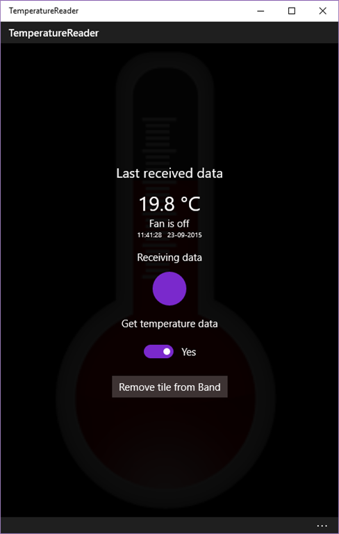 Dotnet by Example: A Windows 10 UWP app to receive temperature data