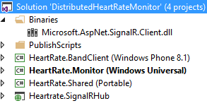 Using a Windows 10 UWP app and Signal/R on Azure to display
